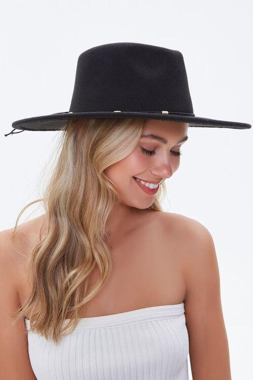 Felt Bow-Trim Panama Hat, image 1