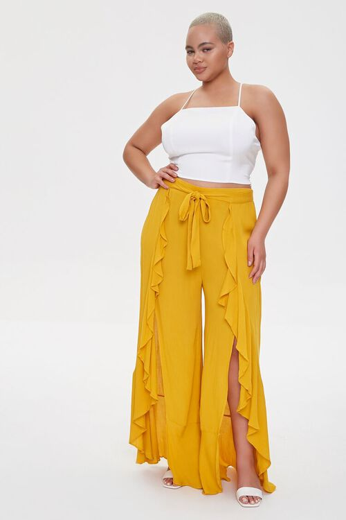 Plus Size Split-Leg Pants, image 1