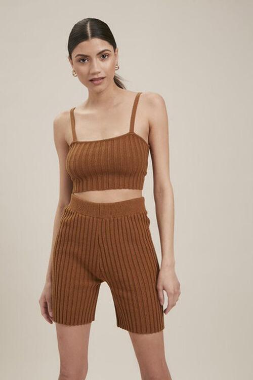 Ribbed Knit Bermuda Shorts, image 1