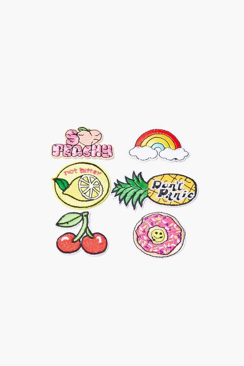 Fruit Graphic Embroidered Iron-On Patch Set, image 1