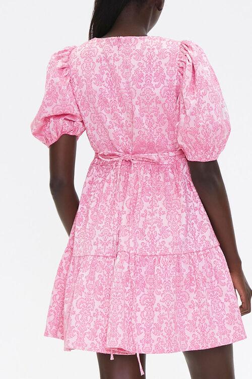 Baroque Print Mini Dress, image 3