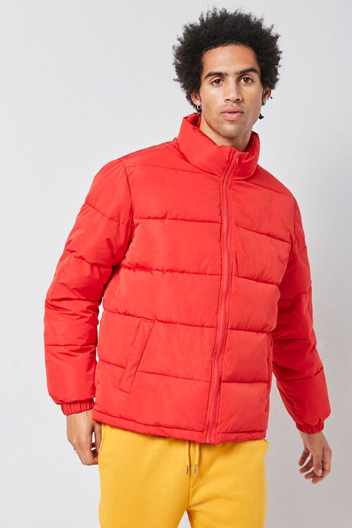 Zip-Up Puffer Jacket, image 4