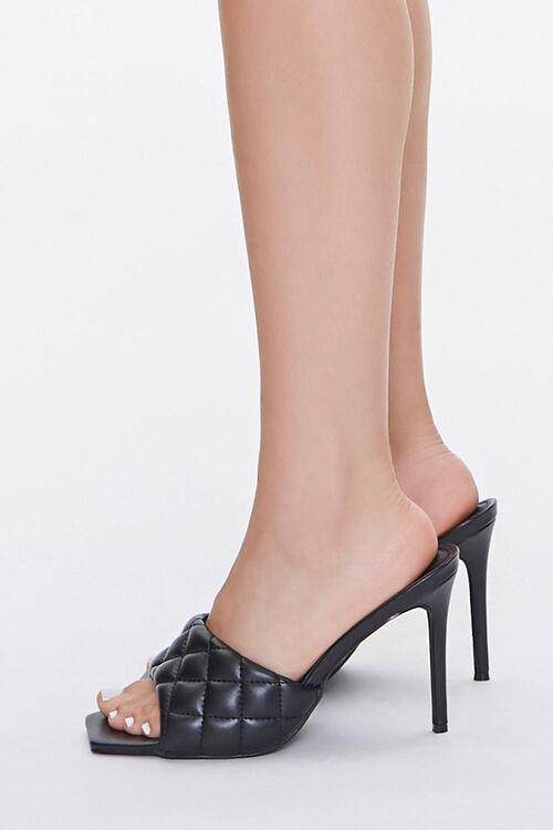 Quilted Open Toe Heels, image 2