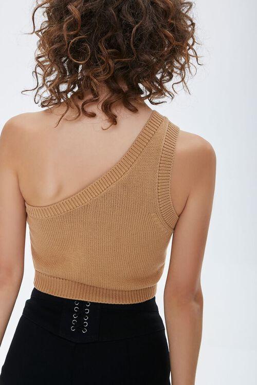 One-Shoulder Sweater Crop Top, image 3