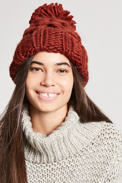 Chunky Cable-Knit Beanie, image 1