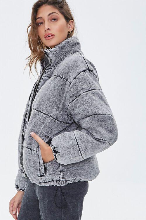 Denim Puffer Jacket, image 3