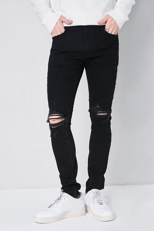 Premium Distressed Skinny Jeans, image 2