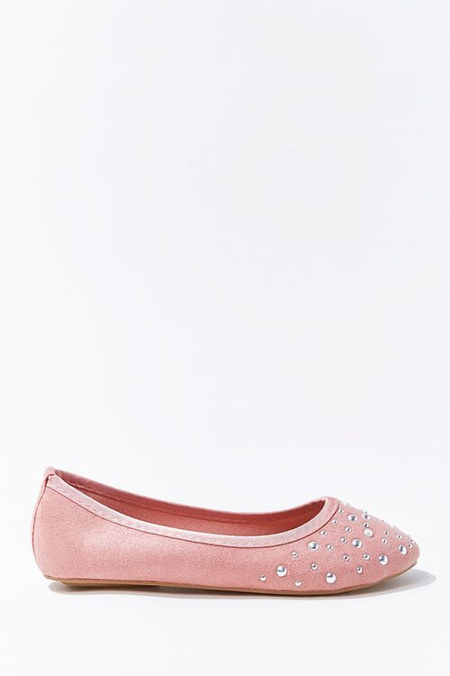 Girls Faux Suede & Pearl Flats (Kids), image 1