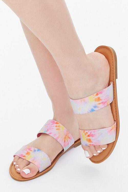 Tie-Dye Dual-Strap Sandals, image 1