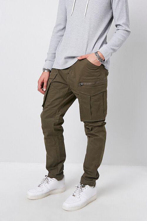 Skinny Denim Cargo Pants, image 1
