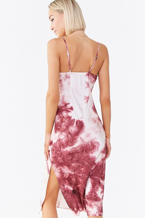 WINE/MULTI Tie-Dye Cami Dress, image 3