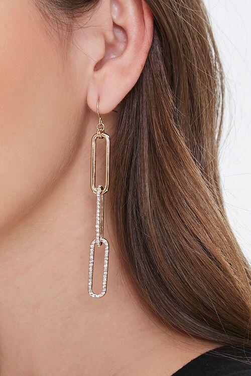 Rhinestone Chain Drop Earrings, image 1