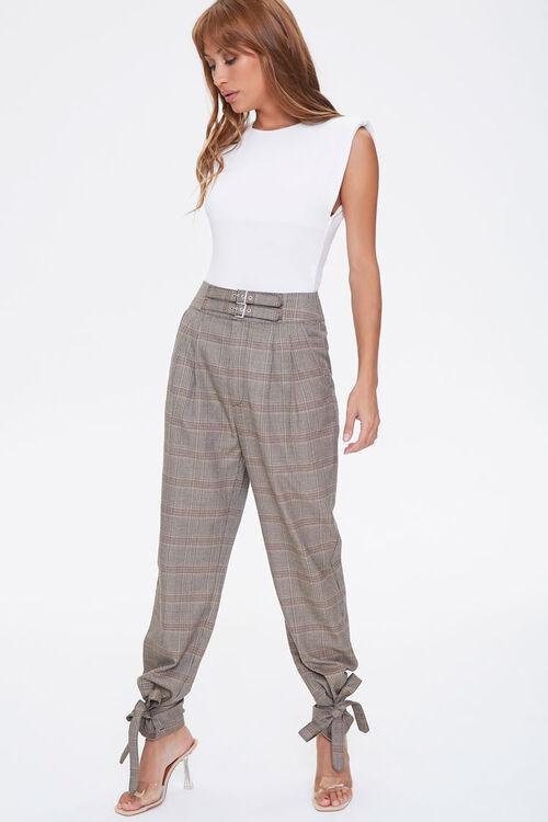 Plaid Ankle-Tie Pants, image 1