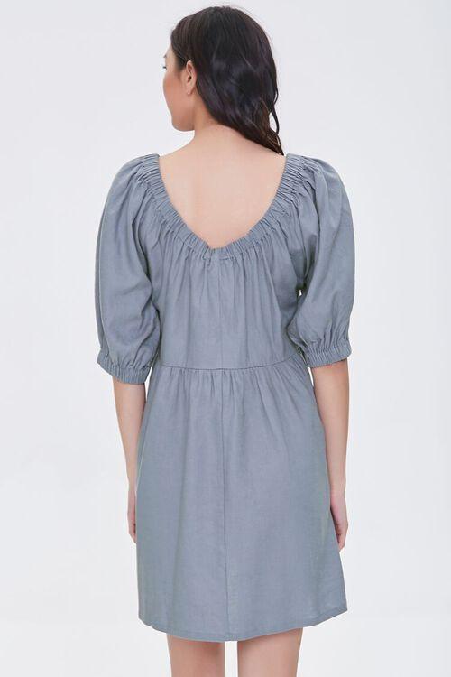 Linen-Blend Mini Dress, image 3