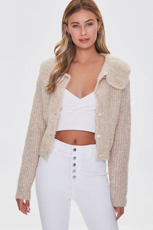 SAND Ribbed Cardigan Sweater, image 1