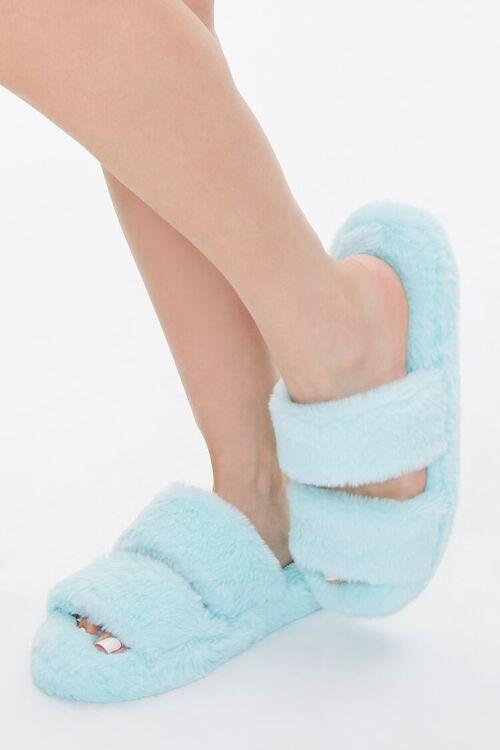 Plush Faux Fur Slippers, image 1