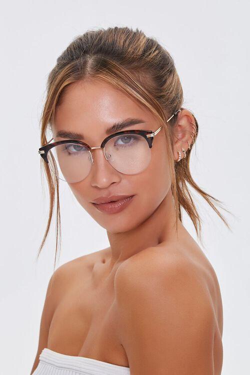 BROWN/CLEAR Translucent Reader Glasses, image 1