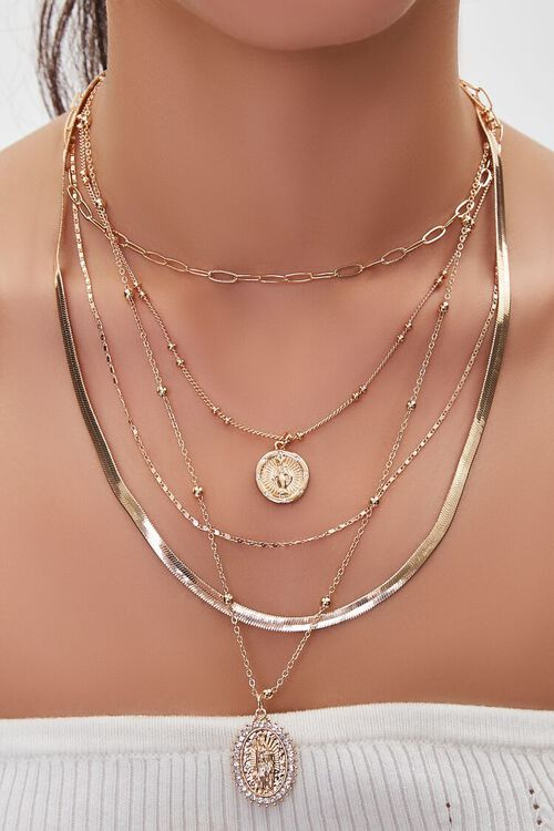 Our Lady of Guadalupe Layered Necklace, image 1