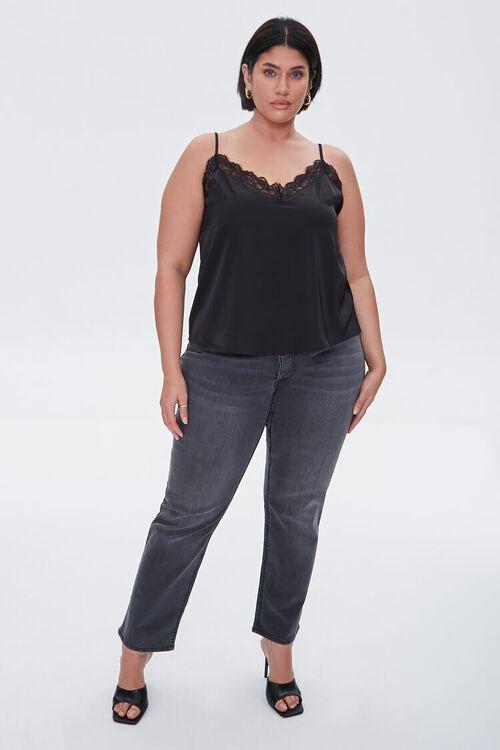 Plus Size Eyelash Lace-Trim Cami, image 4