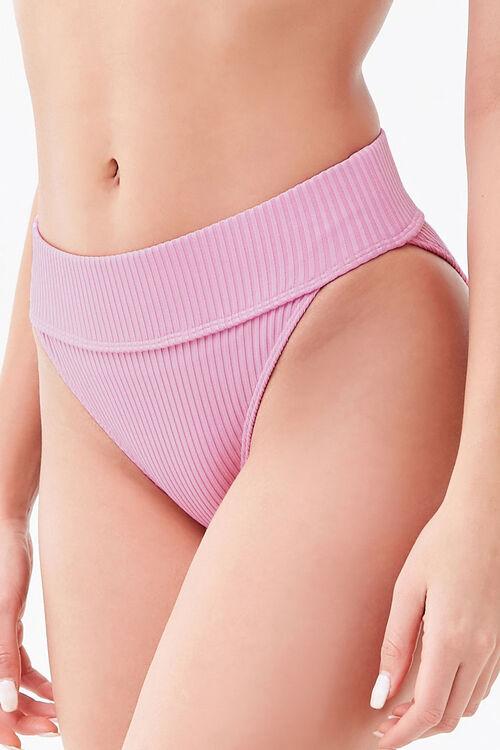 Ribbed High-Rise Bikini Bottoms, image 3
