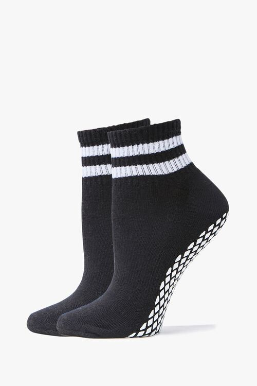 Varsity-Striped Ankle Socks, image 1