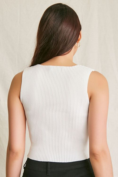 CREAM Ribbed Sweater-Knit Tank Top, image 3
