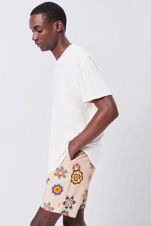 Floral Print Drawstring Shorts, image 1