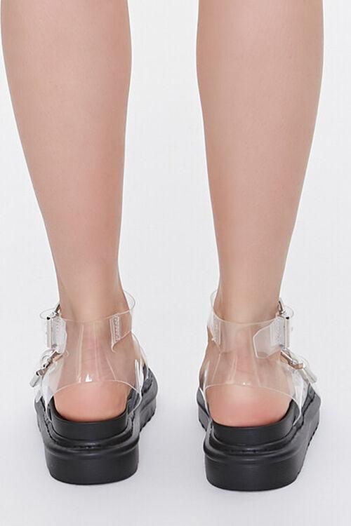 Transparent Dual-Buckle Flatform Sandals, image 3