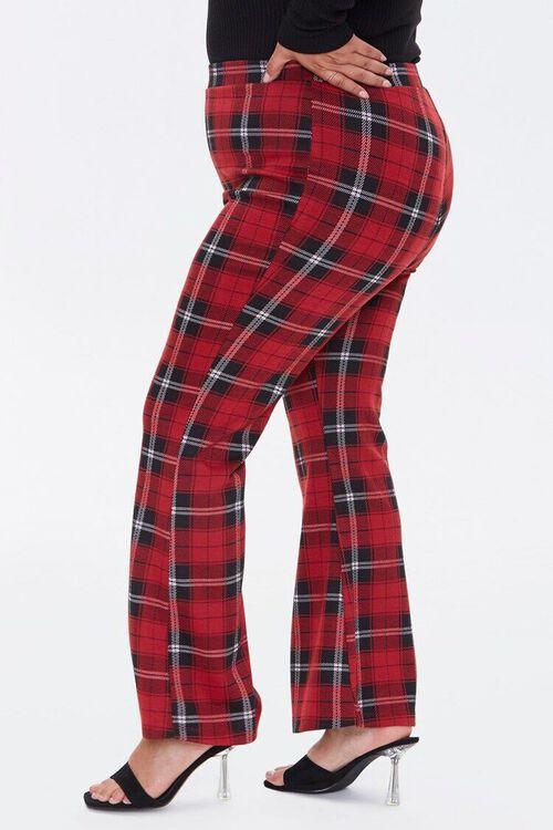 Plus Size Plaid Flare Pants, image 3