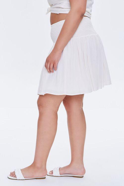 Plus Size Smocked Mini Skirt, image 3