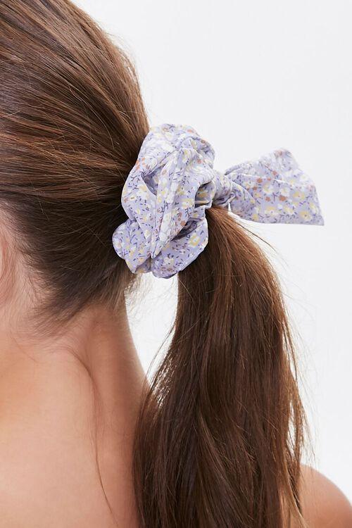 Floral Print Bow Scrunchie, image 2