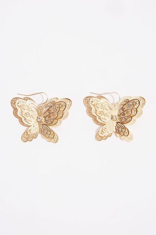 Filigree Butterfly Pendant Earrings, image 2