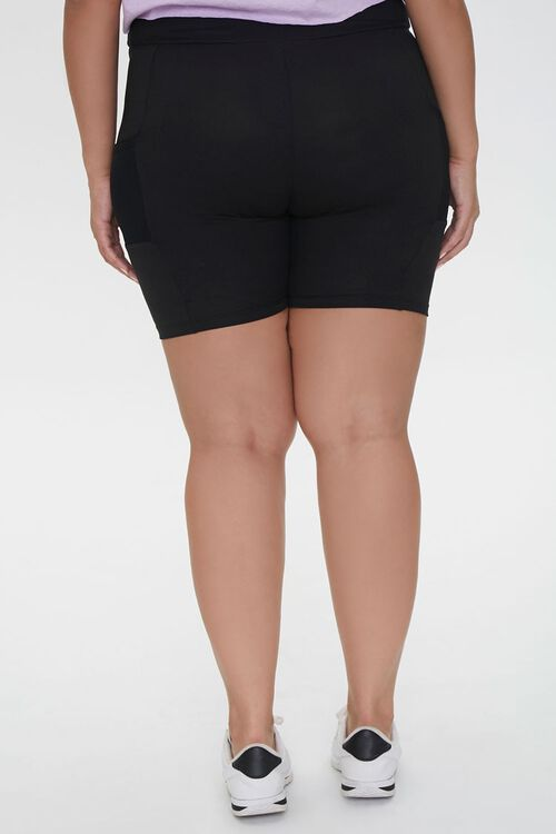 Plus Size Mesh-Pocket Bike Shorts, image 4