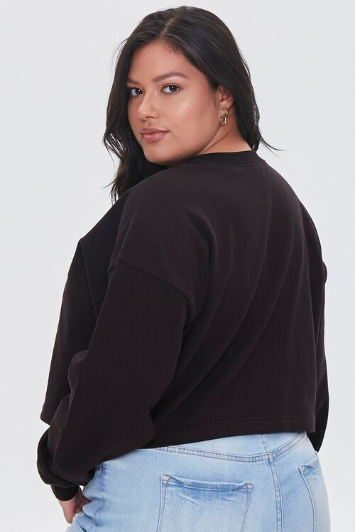 BLACK Plus Size French Terry Pullover, image 3