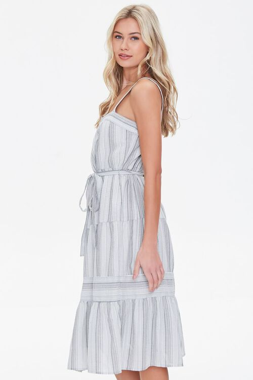 Striped Fit & Flare Dress, image 2