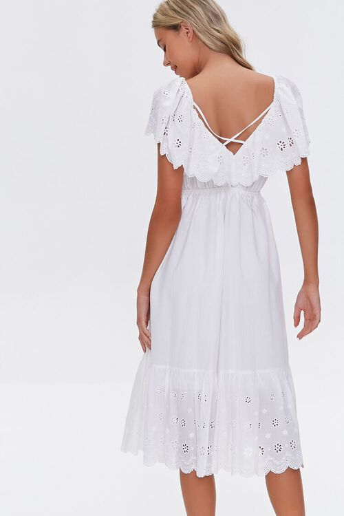 Cotton Floral Eyelet Dress, image 3