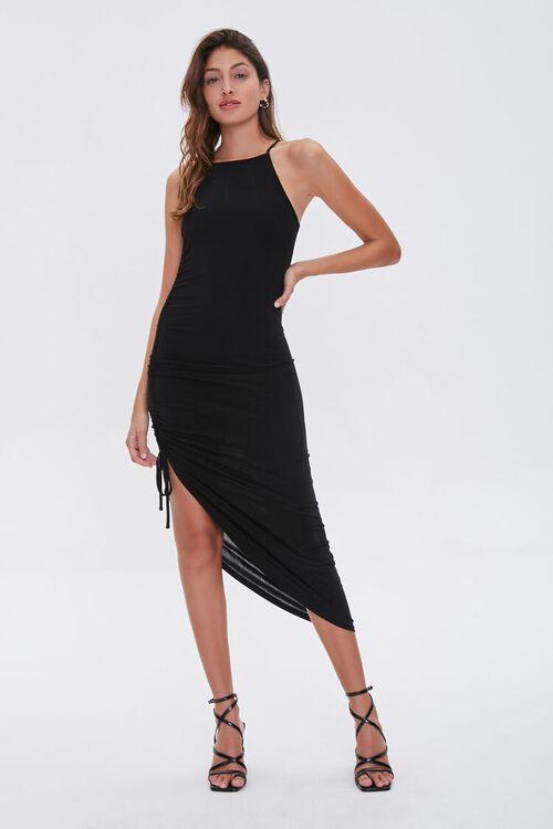 Ruched Drawstring Cami Dress, image 2