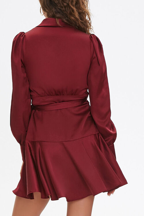 Satin Wrap Dress, image 3