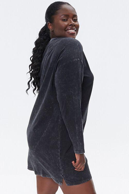 Plus Size Good Vibes Graphic T-Shirt Dress, image 2