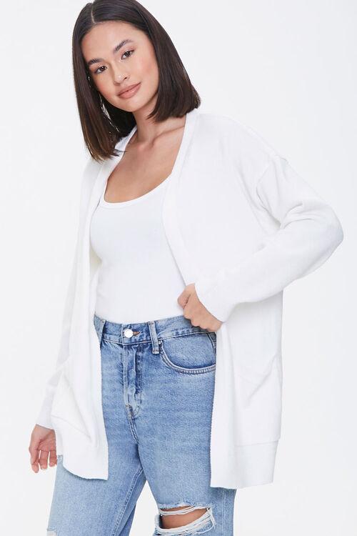Drop-Sleeve Cardigan Sweater, image 1