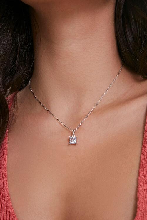 Faux Gem Charm Necklace & Earring Set, image 2