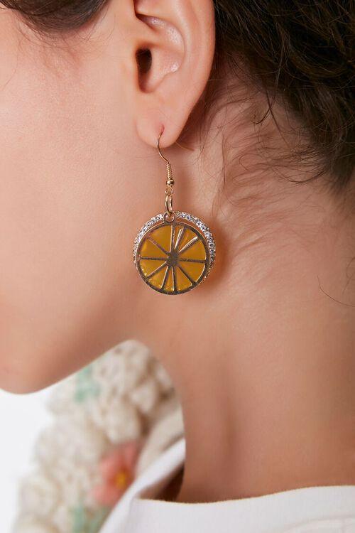 Citrus Pendant Drop Earrings, image 1