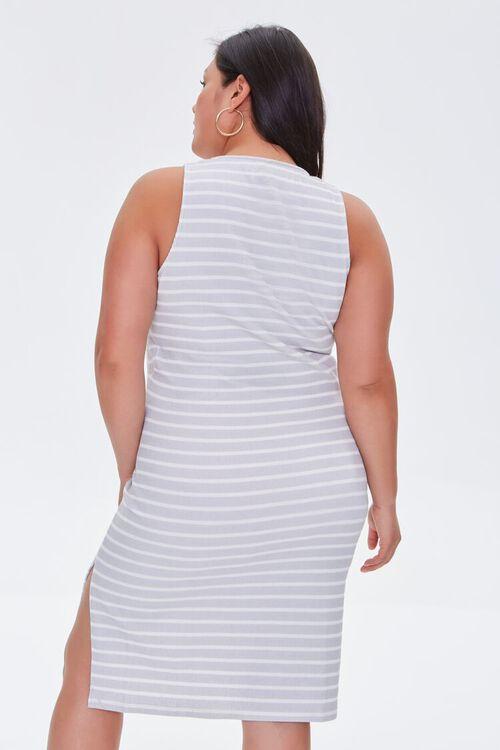 Plus Size Striped Tank Dress, image 3