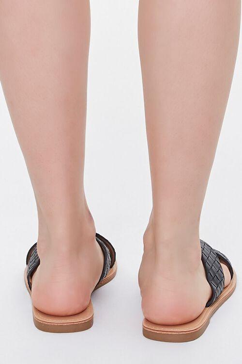 Crisscross Square-Toe Flat Sandals, image 3