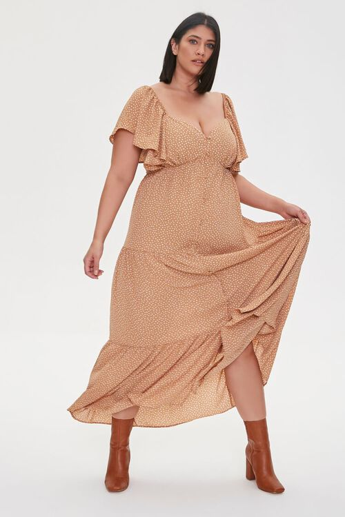 Plus Size Spotted Maxi Dress, image 1