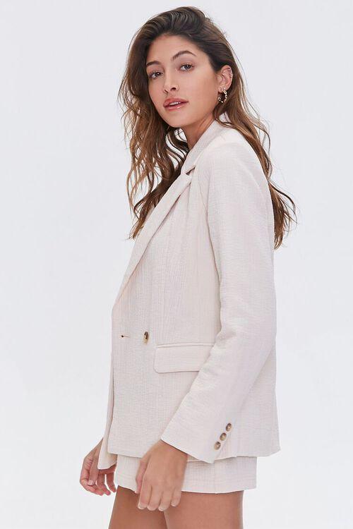 BEIGE Cotton-Blend Button-Front Blazer, image 2