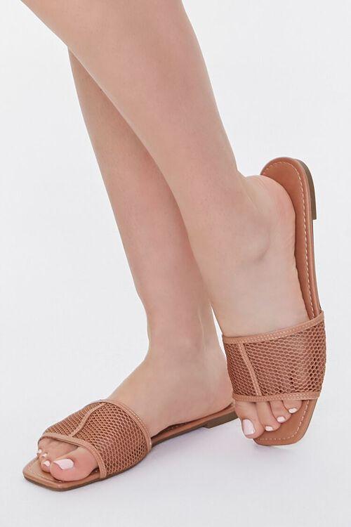 Mesh Square-Toe Sandals, image 1