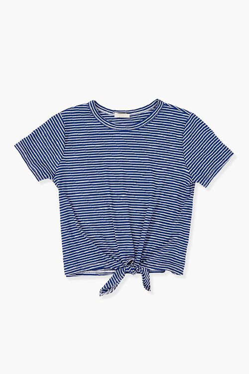 Girls Striped Knotted Tee (Kids), image 1