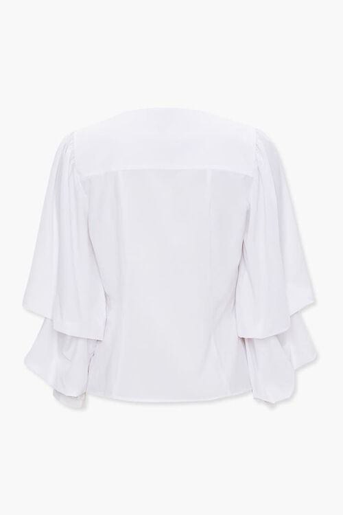Buttoned Gathered-Sleeve Top, image 2