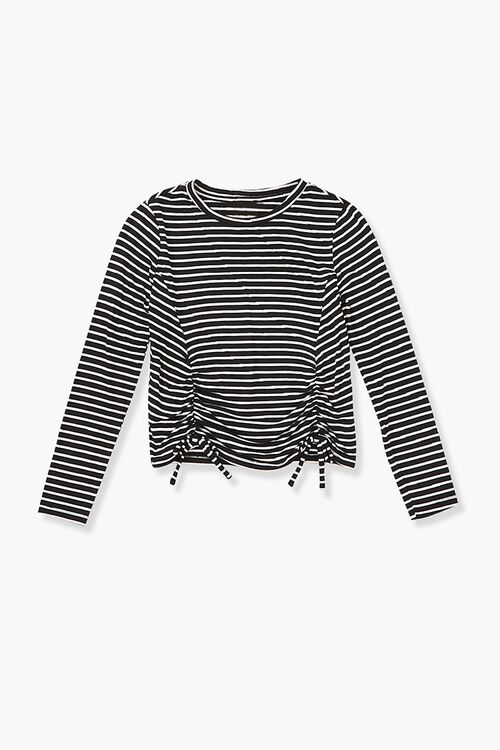 Girls Striped Self-Tie Top (Kids), image 1